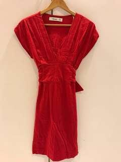 Zara Red Bodycon Dress