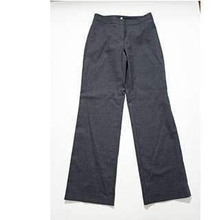 義大利製 SISLEY 純新處女羊毛鐵灰西褲