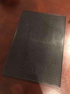 Plastic letter peg board