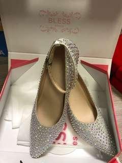 結婚婚紗晚裝鞋36號 #結婚物資 閃石