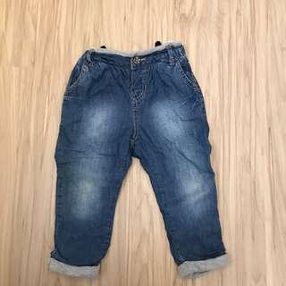 🚚 Zara軟牛仔褲 腰圍鬆緊 82cm/12-18m