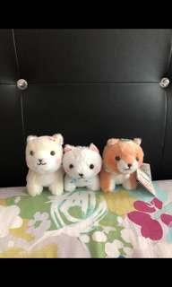 🚚 (REDUCED) Amuse mameshiba plush soft toy keychain dog puppy pastel