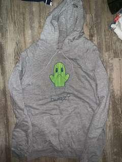🚚 Grey hoodie with cute cactus