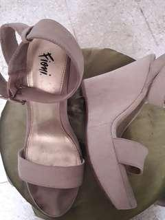 FIONI FOR PAYLESS NUDE WEDGES