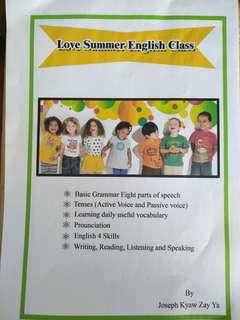 🚚 Looking for Sponsors for Love Summer English Class