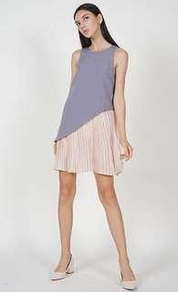 BN Brand New MDS Marcy Pleated Dress in Lilac Pink M Size