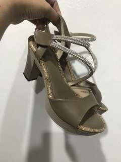 SWISS POLO HIGH HEELS WEDGES