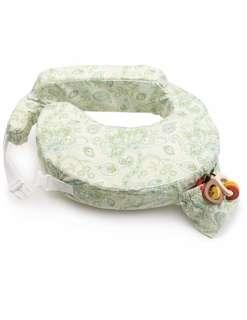My Brest Friend Inflatable Travel Nursing Pillow in Green Paisley