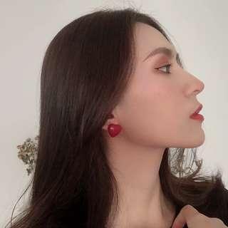 🚚 Kr Heartfelt Earrings Pastel