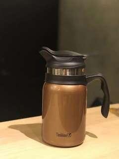 美國Timolino不鏽鋼保溫濾茶壺-咖啡金