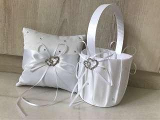 Wedding Ring pillow and Flower girl basket