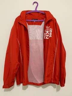 Parachute Jacket red detachable hoodie