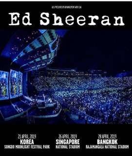 🚚 Ed Sheeran Cat 3 tickets (4 ticket bundle)