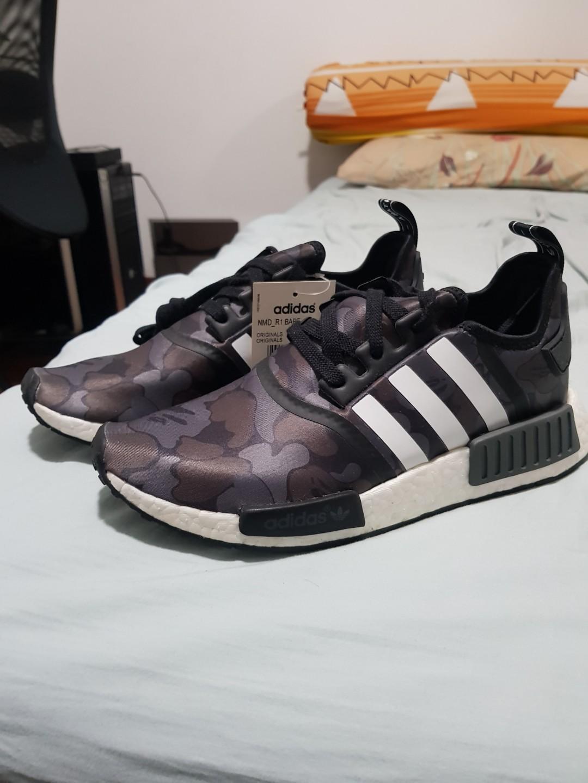 73a7585e37361 Adidas NMD R1 x BAPE (US 8) ( Black Camo )