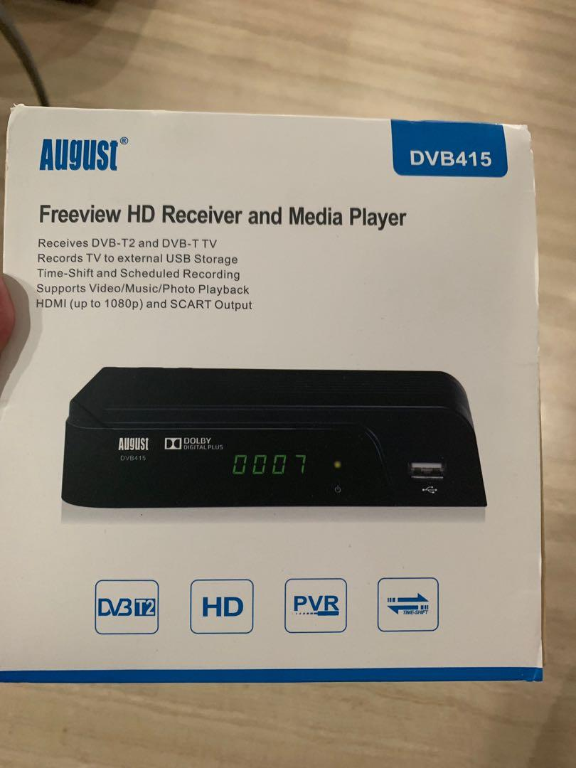 August Freeview Box Recorder HD DVB415 - HDMI and Scart Set
