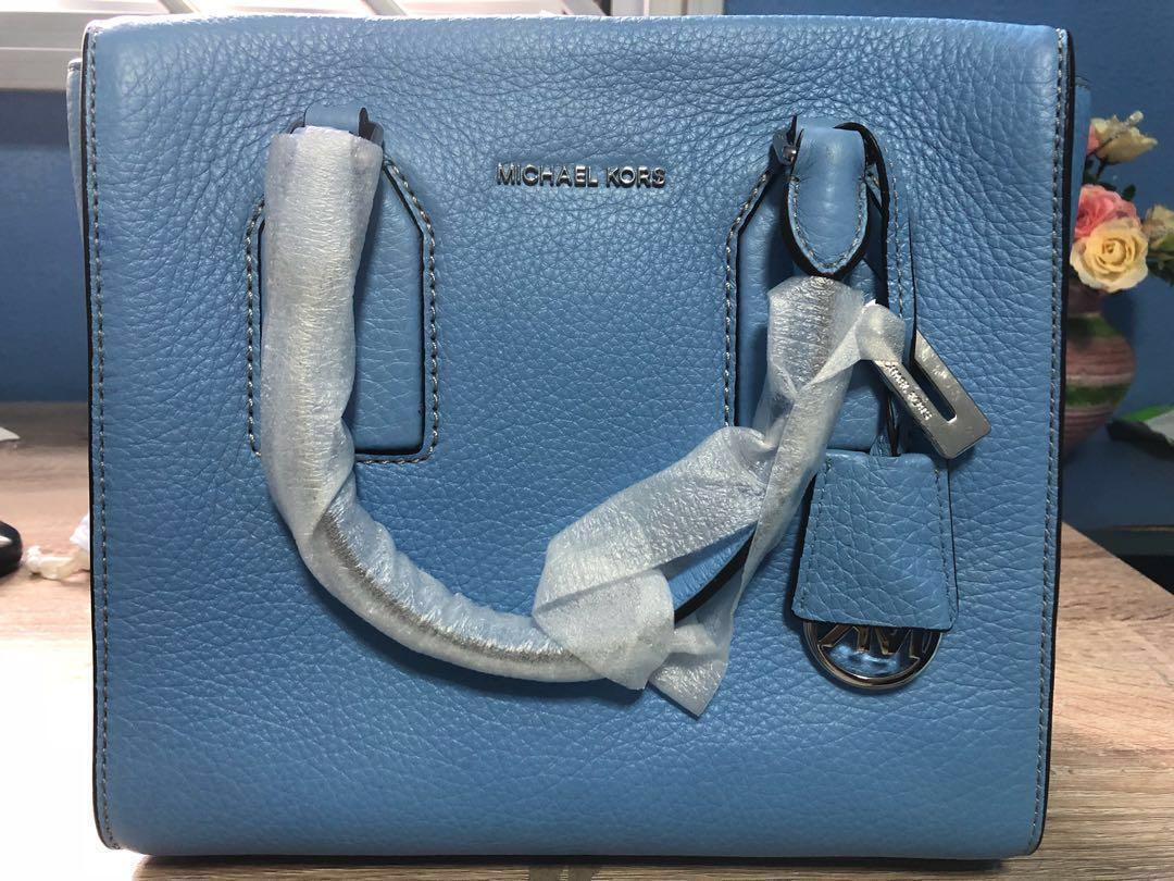 dfa9d98d4af2 BNIB Authentic Michael Kors Selby Satchel (Blue), Women's Fashion ...