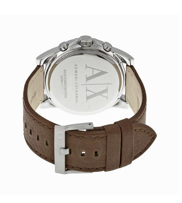 Brand New Original Armani Exchange Chrono Watch, Brown Leather AX 2501