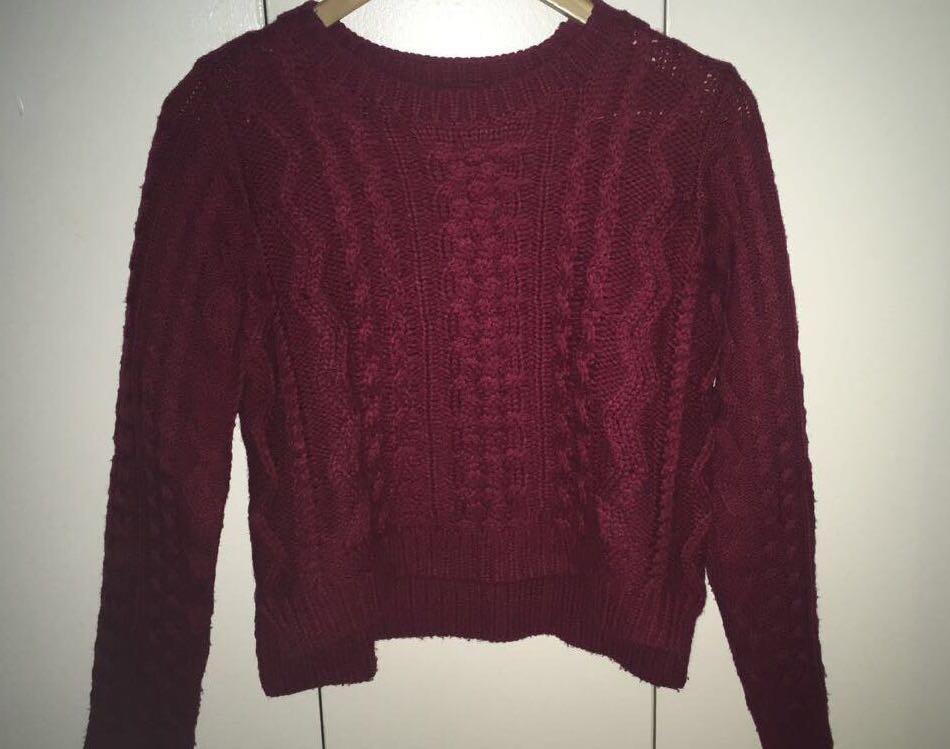 Burgundy Knit Sweater