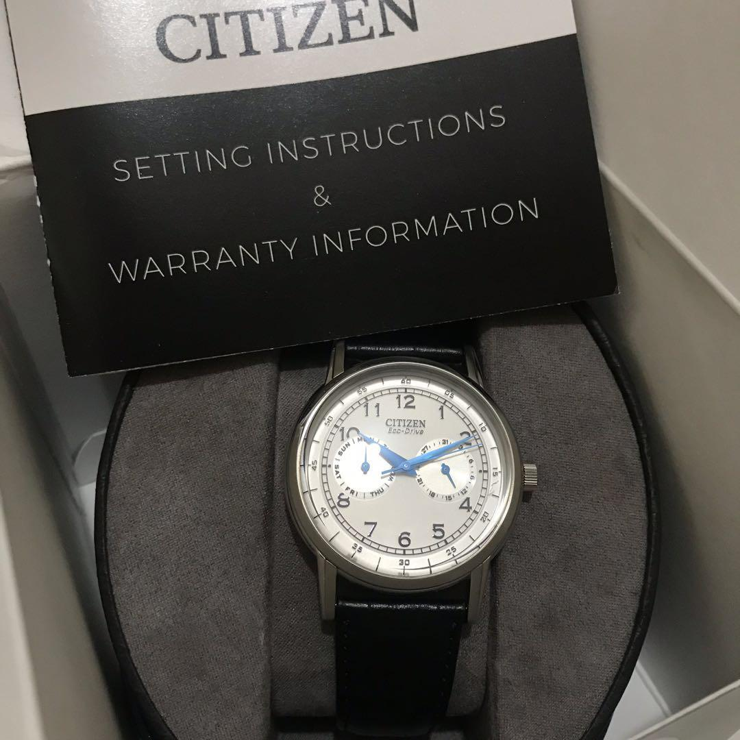 Citizen eco-drive watch for men with one year warranty