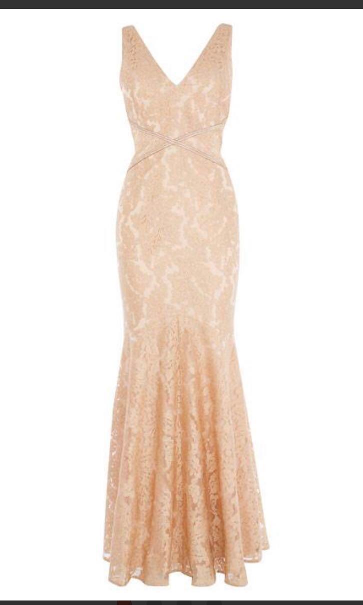 9008d5b2b0d6 COAST nude Caggie Embellished Lace Maxi Dress, Women's Fashion ...