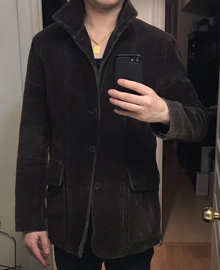 Corduroy jacket. Slim fit