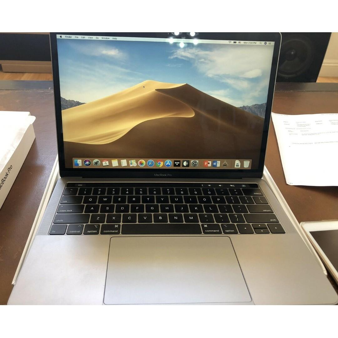 """(Excellent Con) 2018 Apple MacBook Pro 13.3"""" Space Gray Touch Bar Warranty"""