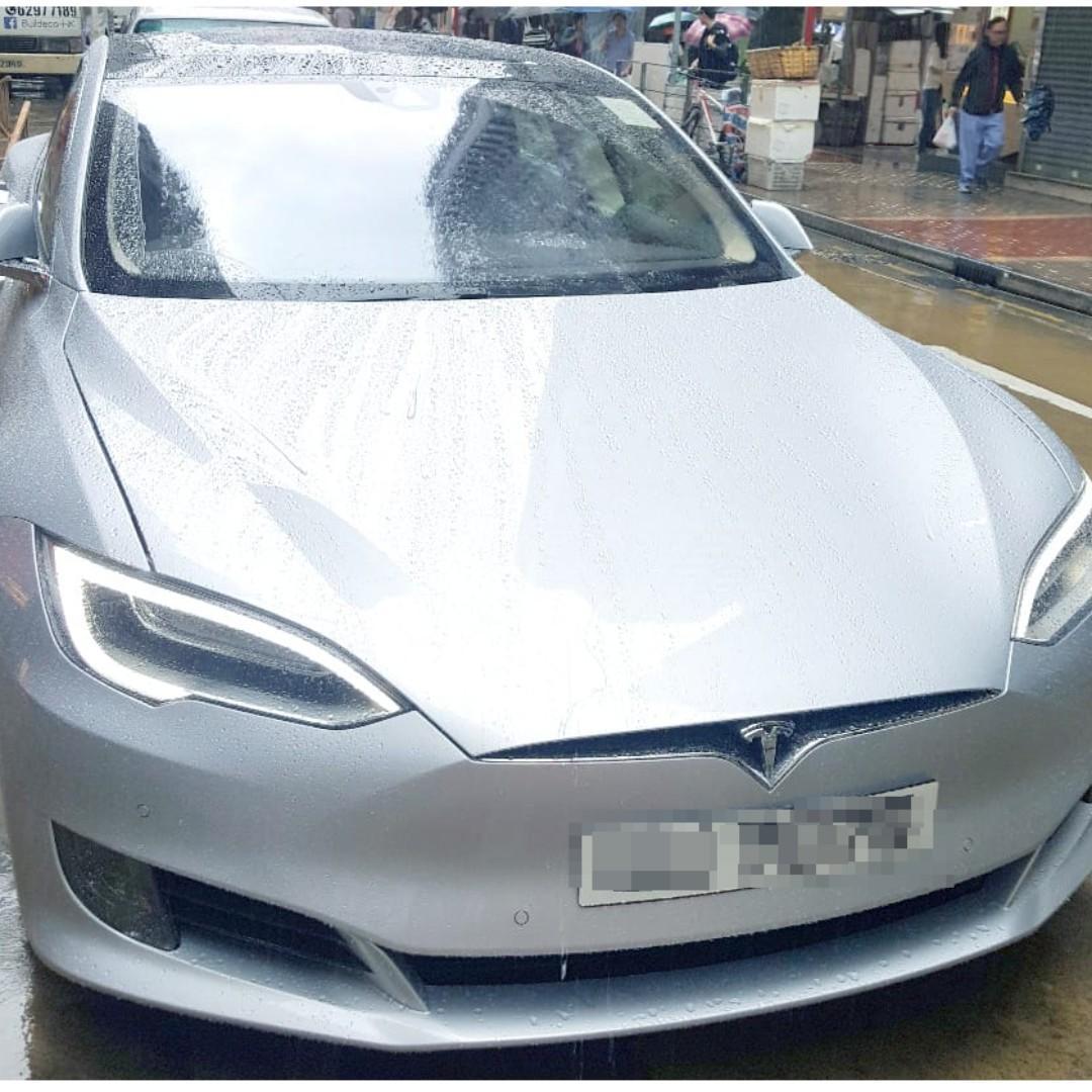 最新款全天窗Facelift新版Tesla Model S 70D (Silver 耀銀色)