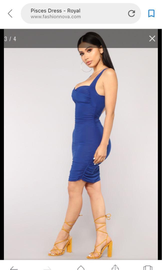 Fashion Nova Pisces Dress (Royal)