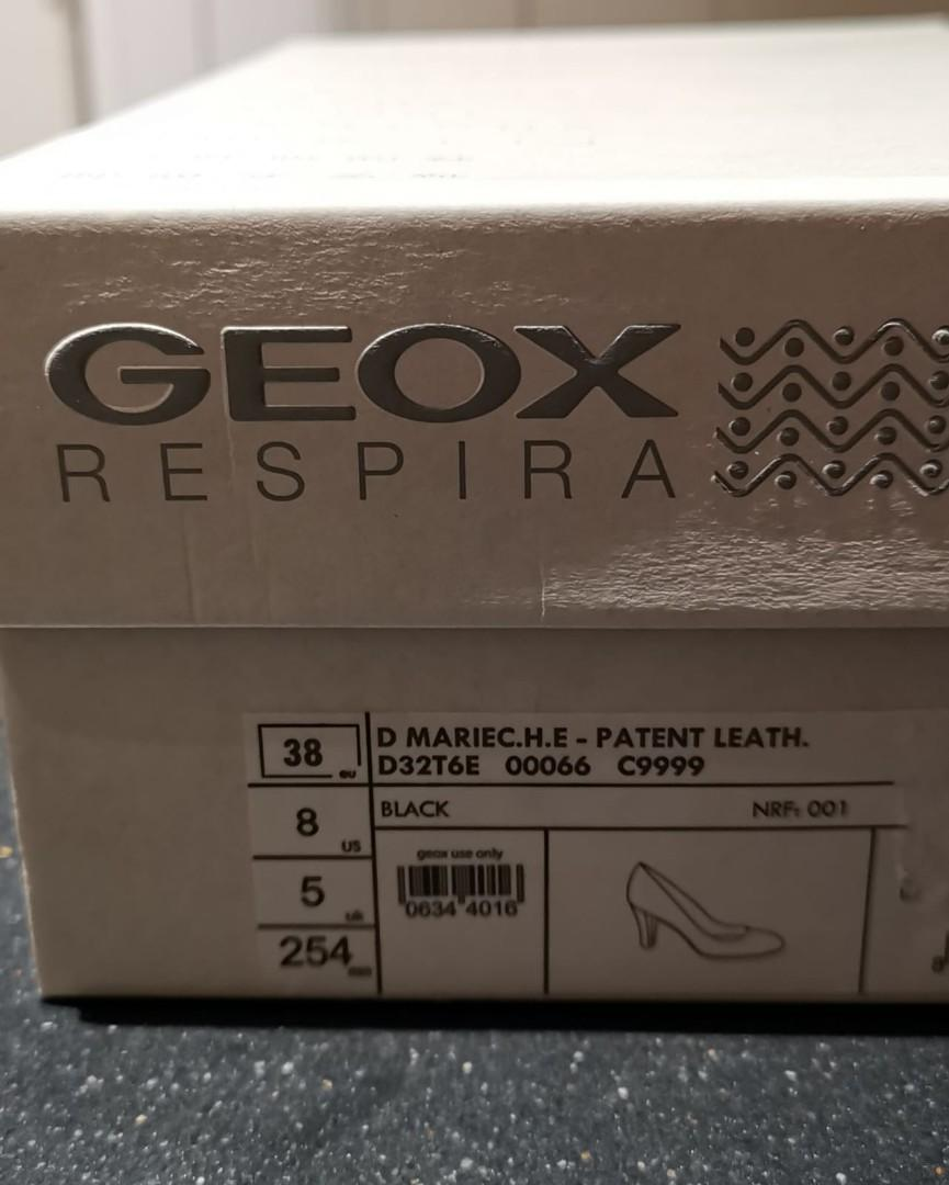 GEOX Respira Black Patent Leather Pumps