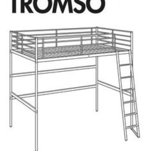 Fonkelnieuw IKEA TROMSO LOFT BED FRAME, Furniture, Beds & Mattresses on Carousell AI-56