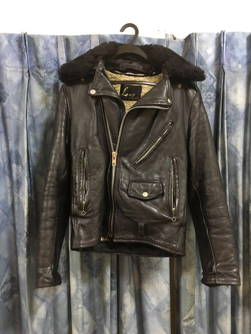Lesco Vintage Leather Motorcycle Jacket Men S Fashion Clothes