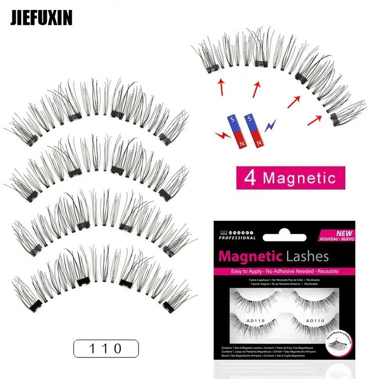 0838f08a31a Magnet false eyelashes free glue four magnets false eyelashes 3 D natural  magnetic 4 magnetic eyelashes manufacturers Buy 2 $19 2 Pair in a box, ...
