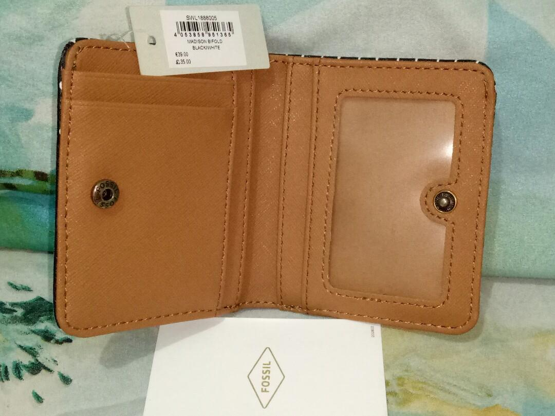 Mini walet fossil madison bifold authentic