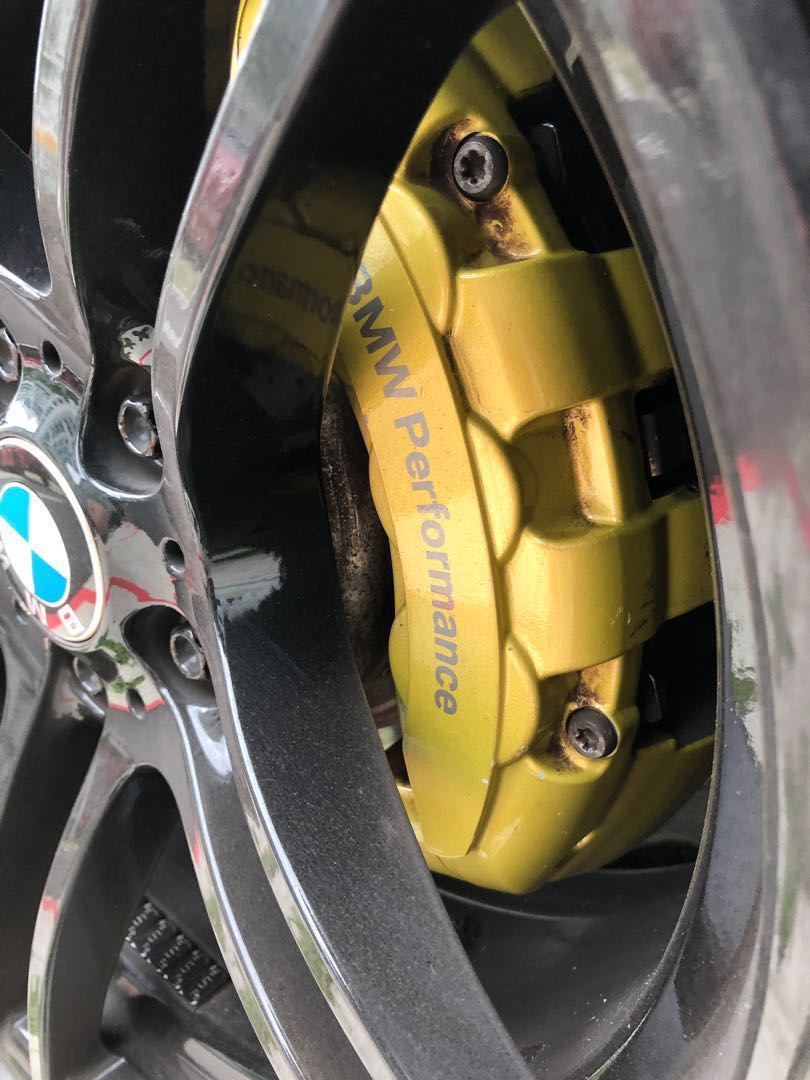 Original Bmw Performance Brembo 6 Pot Brake Calipers And