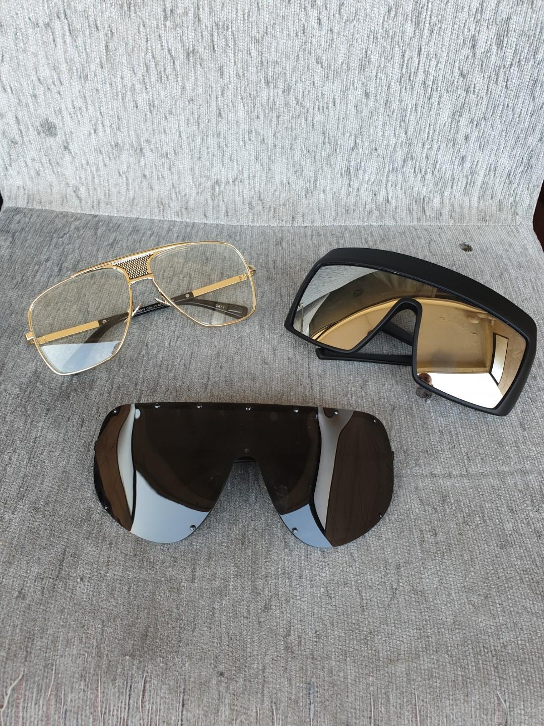 Oversized Shades Sunglasses 20 Each 45 For All 3 Top Left And Bottom Sold Men S Fashion Accessories Eyewear Sunglasses On Carousell