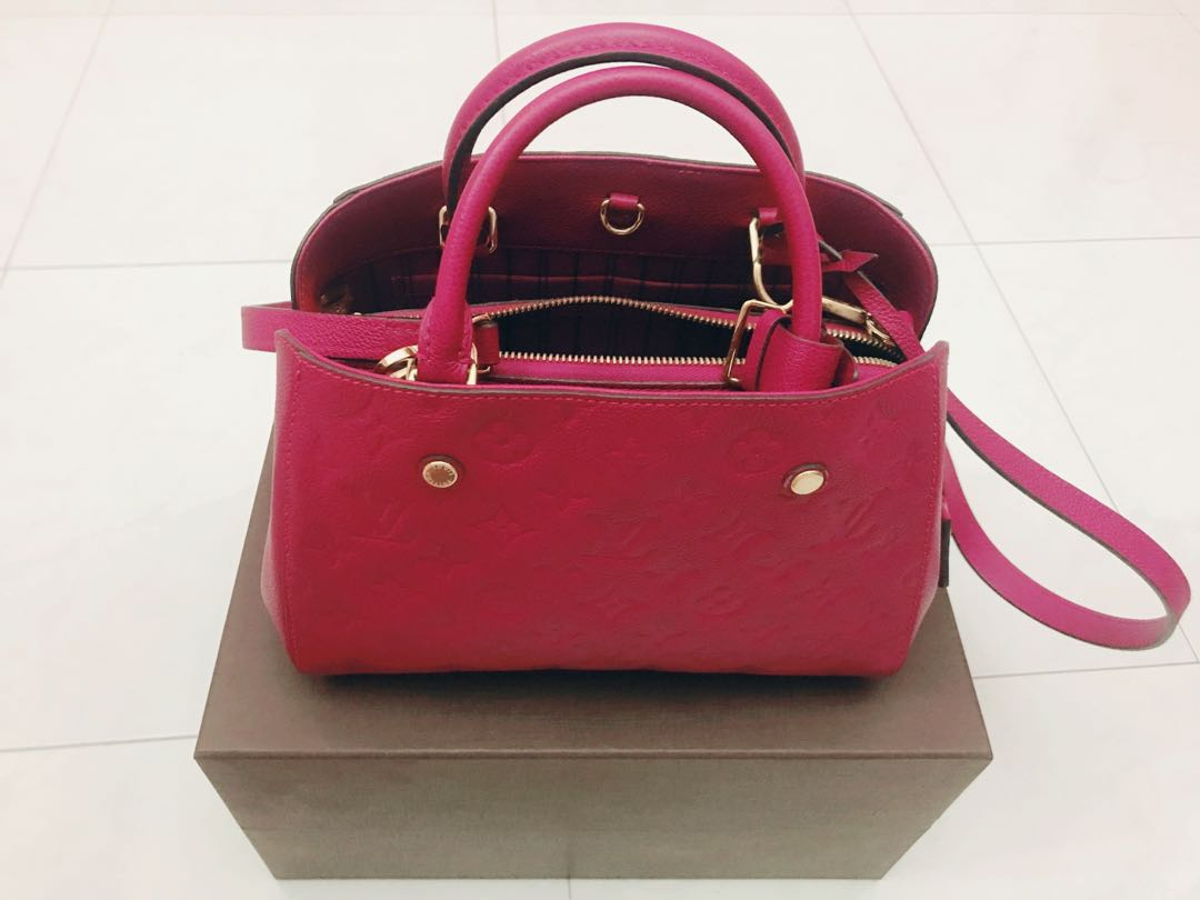 645fc59c9 Pink Louis Vuitton LV Handbag with Pink Strap Authentic Genuine ...
