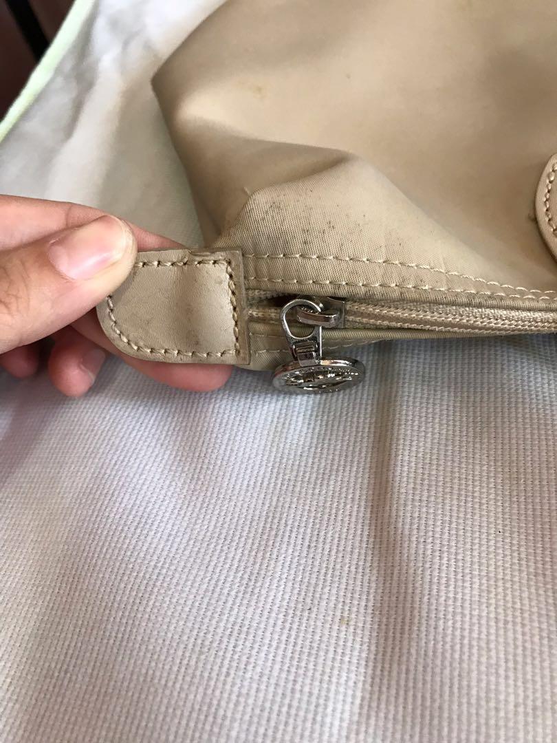 Preloved Longchamp Cream-Long Handle