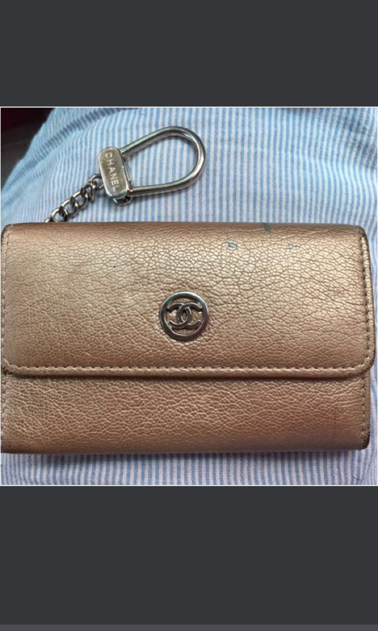 cc69ad20f0c0 Price reduced ☀️Authentic Chanel card holder mini key chain wallet ...