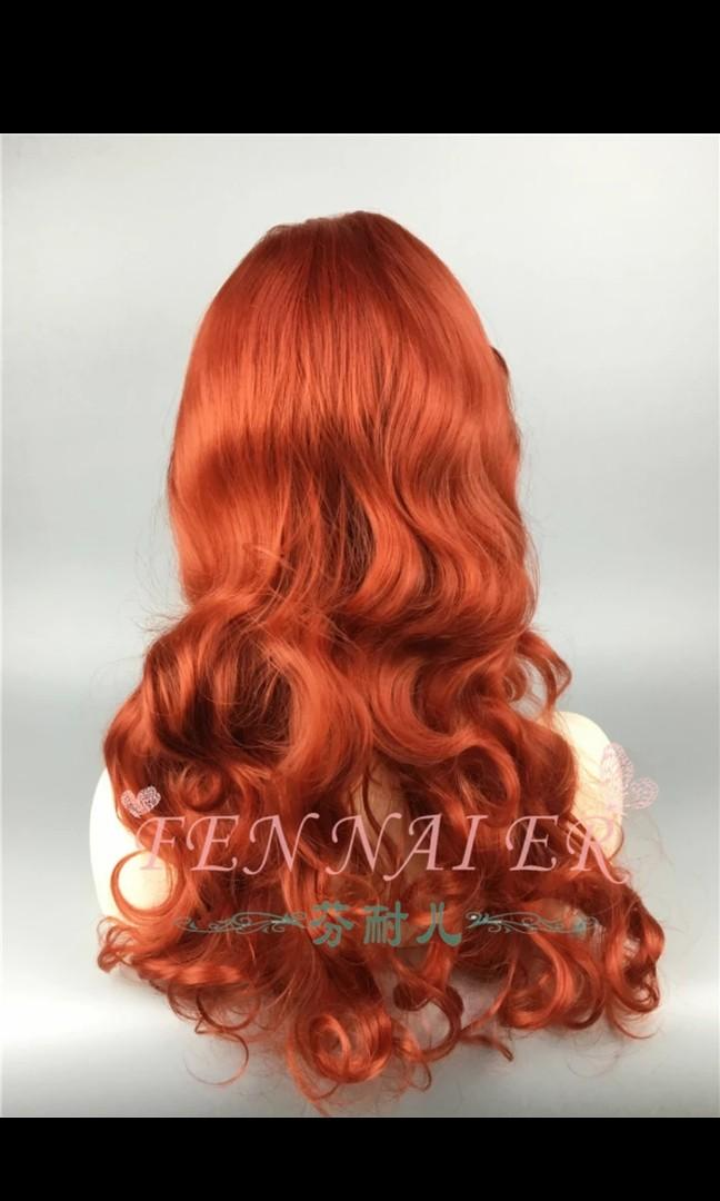 Princess Fennel Jessica copper red Wig Hair 65cm