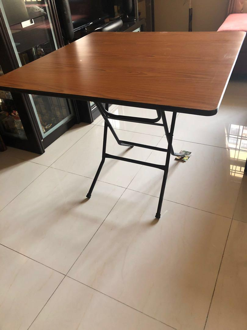 Solid Wood Folding Table Furniture Tables Chairs On Carousell