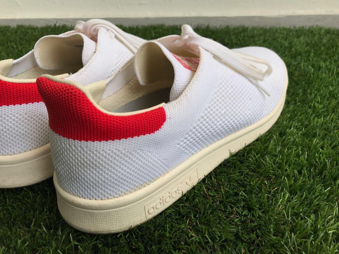 629e48ad1c5 Stan Smith Primeknit Red Heel, Men's Fashion, Footwear, Sneakers on ...