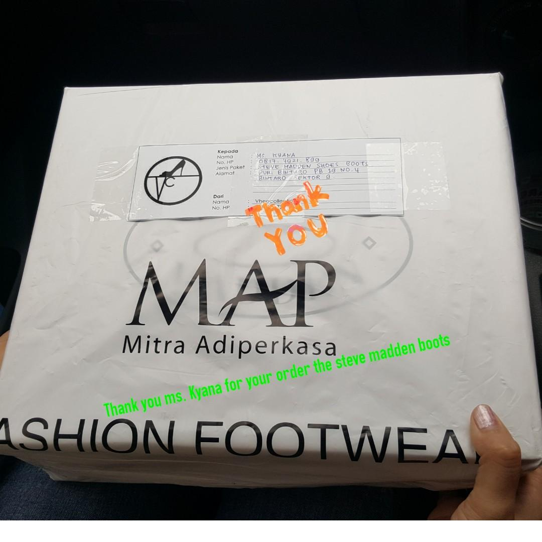 Thank you Ms.Kyana for your order the Steve Madden Boots