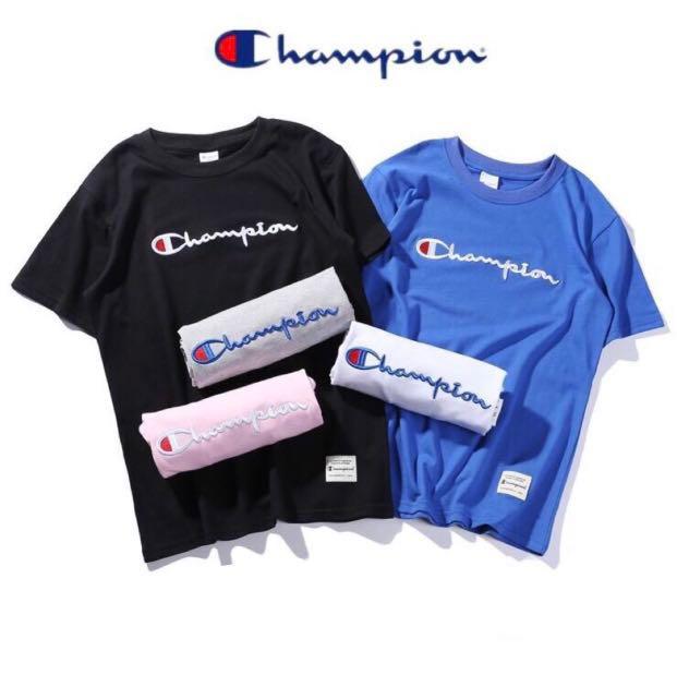 850da61e041d UNISEX Script Champion Tee Shirt (INSTOCKS‼ ), Men's Fashion ...