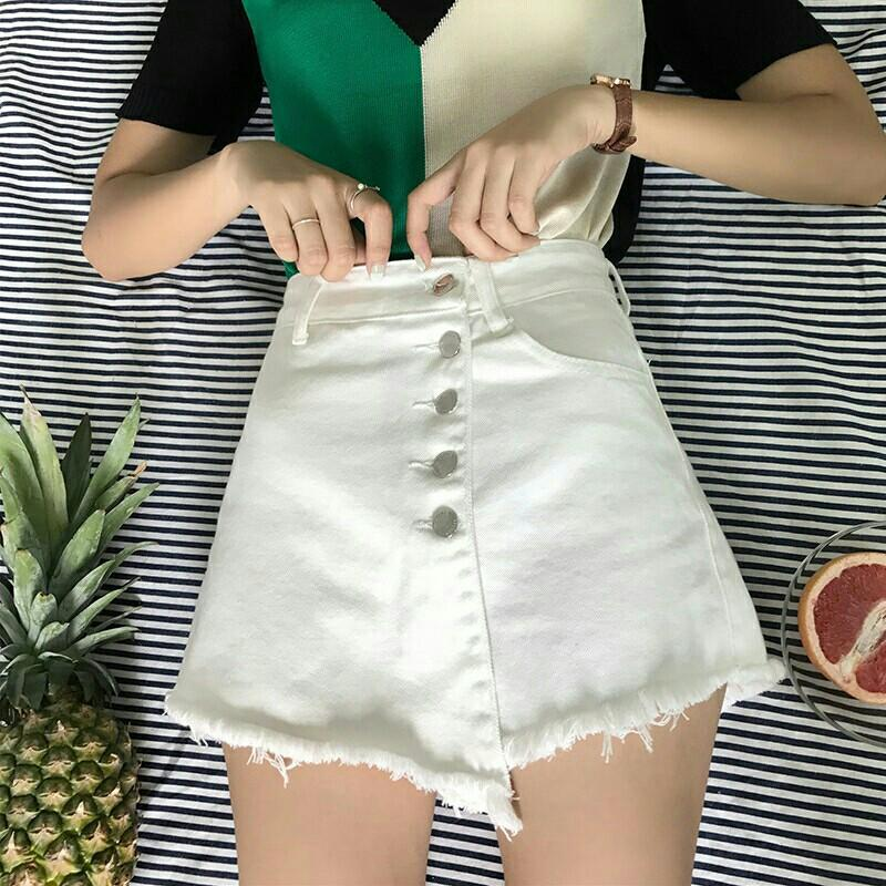 Women high waist slimming a line skorts irregular