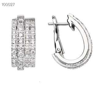 925 伯爵品牌 純銀耳環 Sliver Earrings
