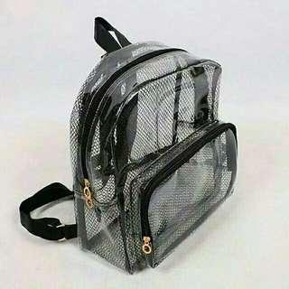 Ransel / Back pack Transparant Bag