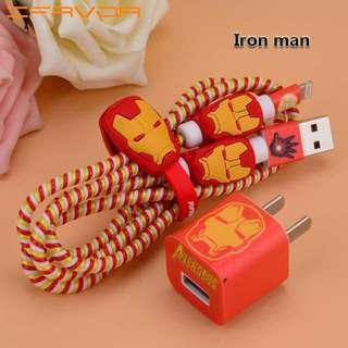 Iron Man Avengers cable cord clip/organiser