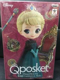 愛莎 Elsa 魔雪奇緣 Qposket Figures  日本景品 迪士尼 公主 情人節禮物