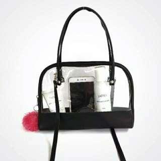 Sling Bag Pompom Transparant