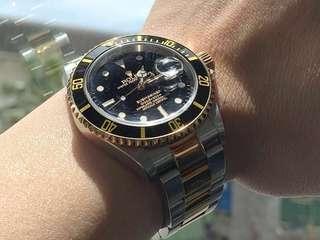 Rolex Submariner 16613 - Half Gold Two Tone